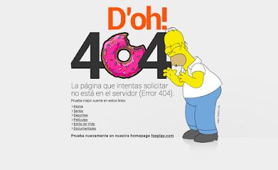 Página de error 404 Homer Simpson