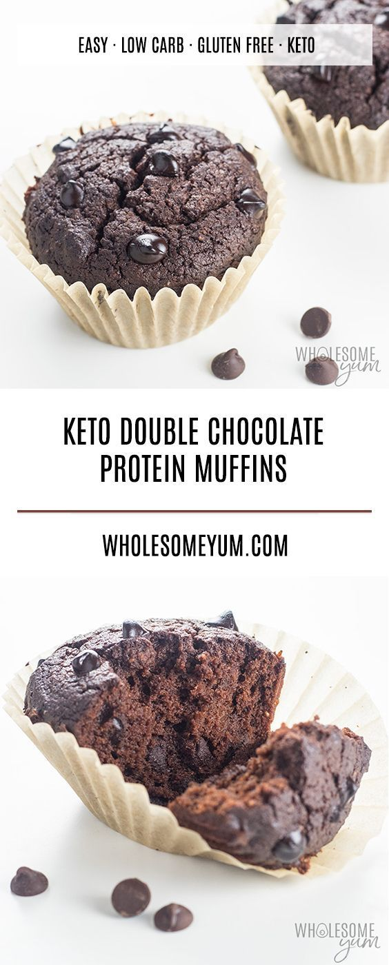 LOW CARB DOUBLE CHOCOLATE PROTEIN MUFFINS RECIPE