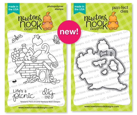 Newton's Picnic Stamp Set and Die Set by Newton's Nook Designs #newtonsnook