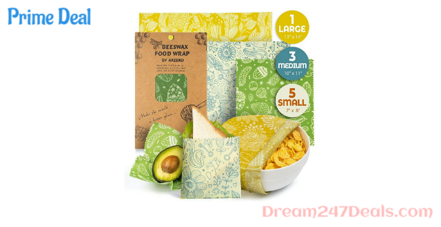 50% OFF Reusable Beeswax Wraps Assorted 9 Packs