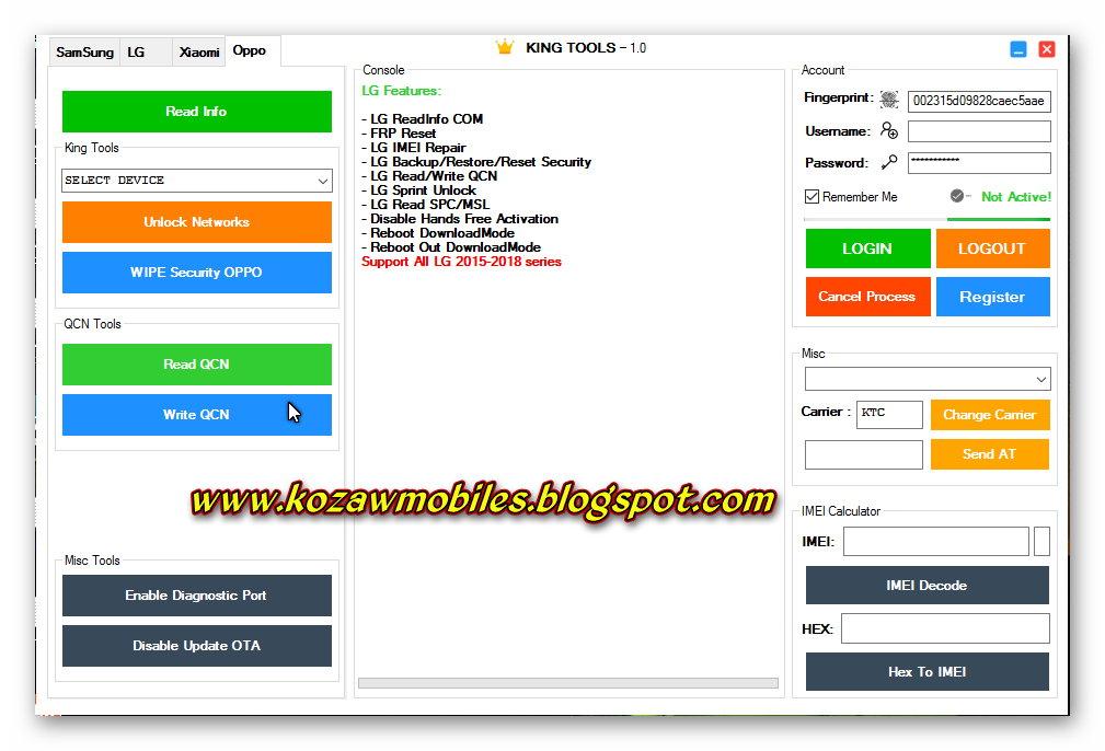 King Tool v1 0 - KoZaw Mobile & IT နည်းပညာ