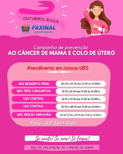 FAXINAL - Prevenção ao Câncer de Mama