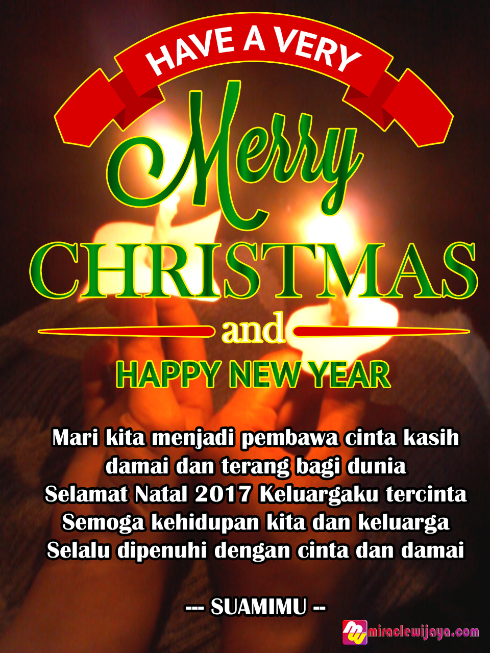 Ucapan Selamat Natal 2018 dan Tahun Baru 2019