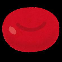 円盤状の赤血球のイラスト