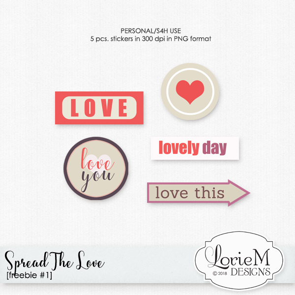 Spread The Love $1.00 Each + FWP + Freebie