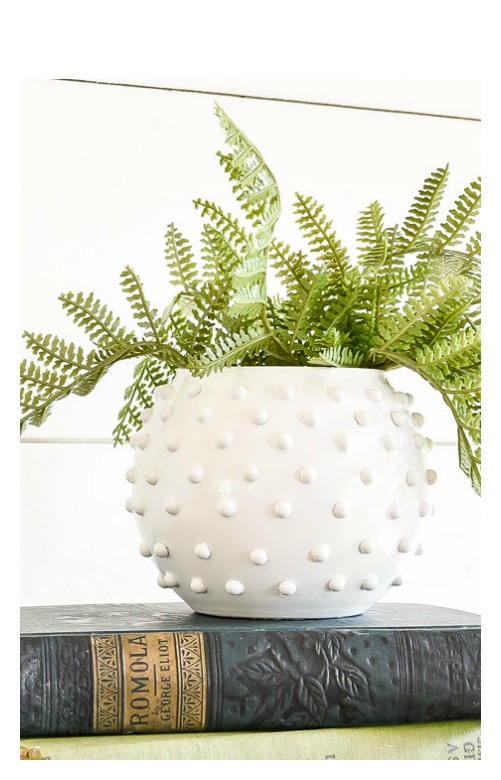 DIY Dollar tree hobnail vase
