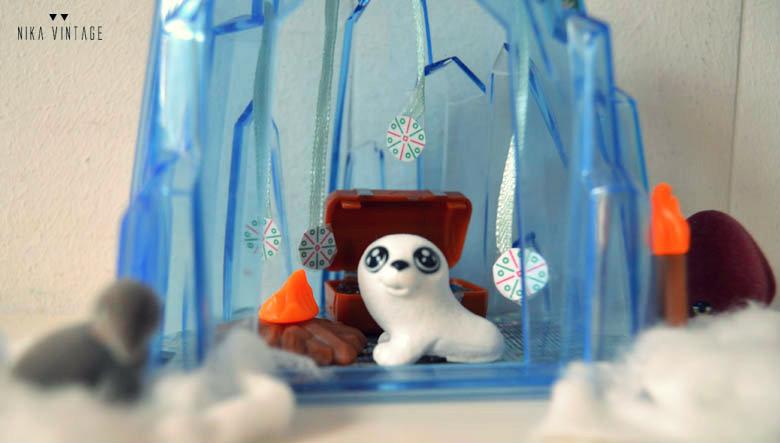 diy navideño diorama: como hacer un pequeño mundo de hielo de una manera facil