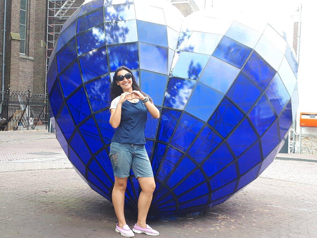 Delft Blue Coração Azul em Delft