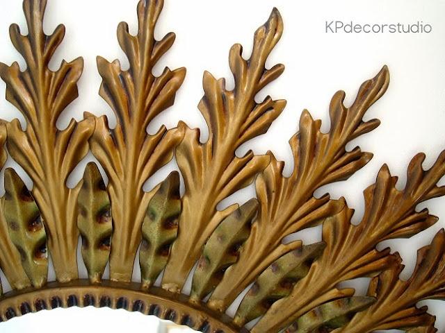 Espejos sol dorados antiguo circulares online