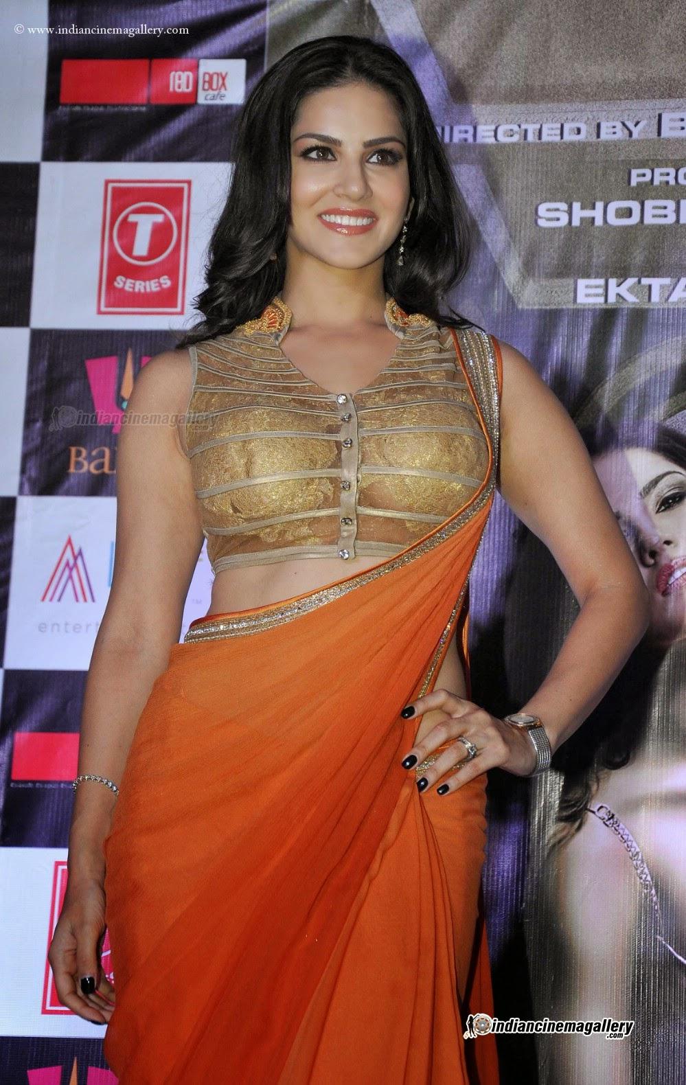 sunny leone in saree   serial actress hot telugu hindi