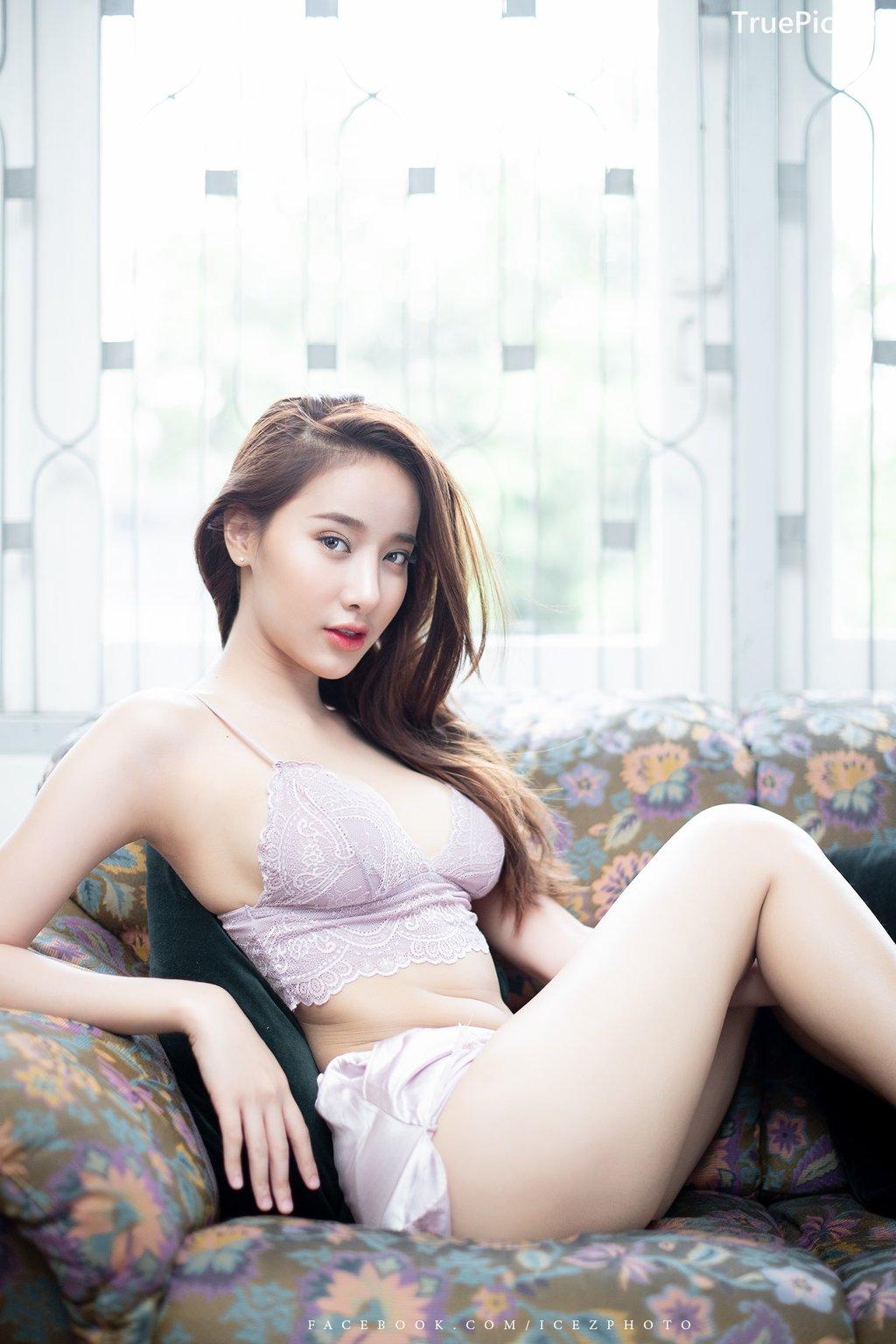 Image-Thailand-Hot-Model-Pichana-Yoosuk-Sexy-Purple-Bra-Shiny-Short-Pants-TruePic.net- Picture-1