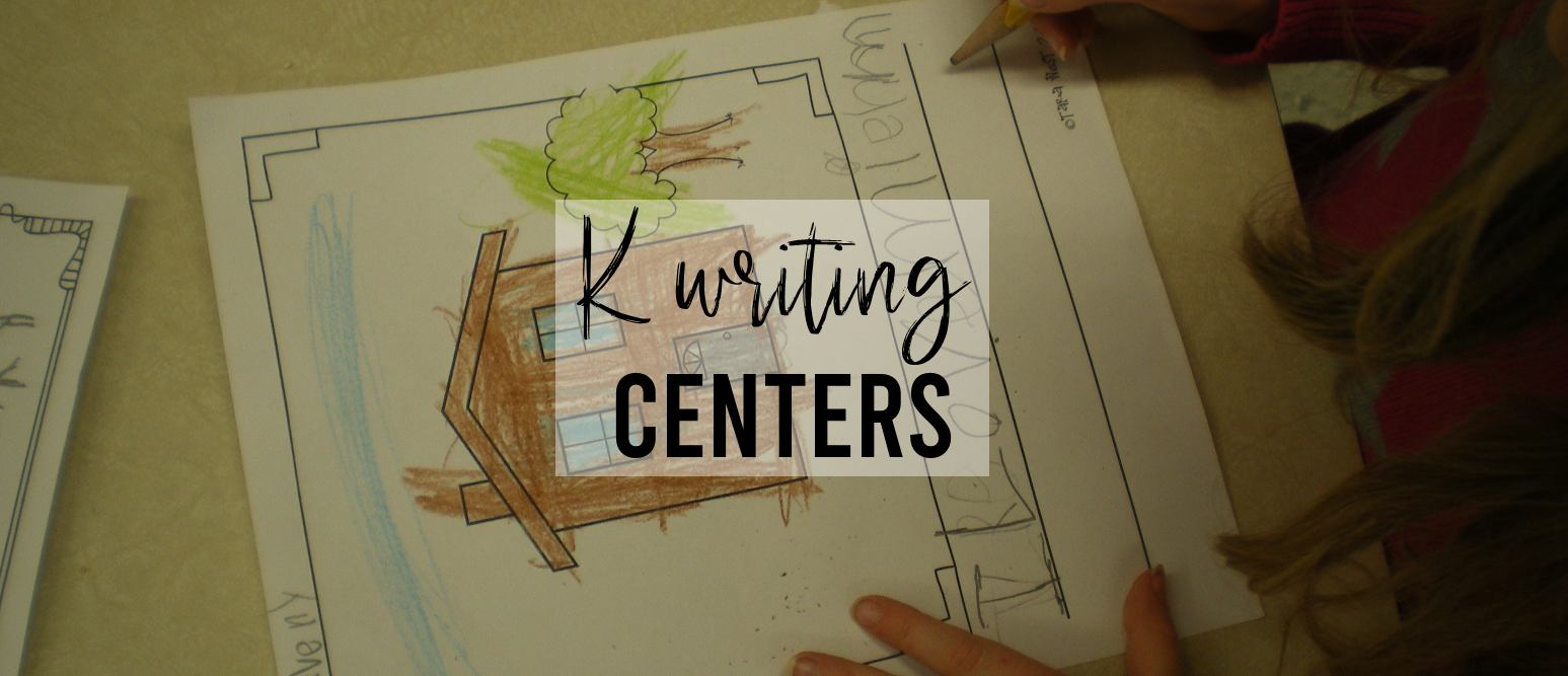 Lots of writing center activities and ideas for Kindergarten and First Grade- perfect for Daily 5 too! #kindergartenwriting #kindergarten #daily5 #writingcenter #writingcenters #writing