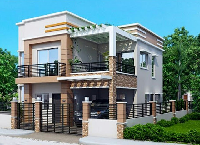 small two storey house plans with balcony