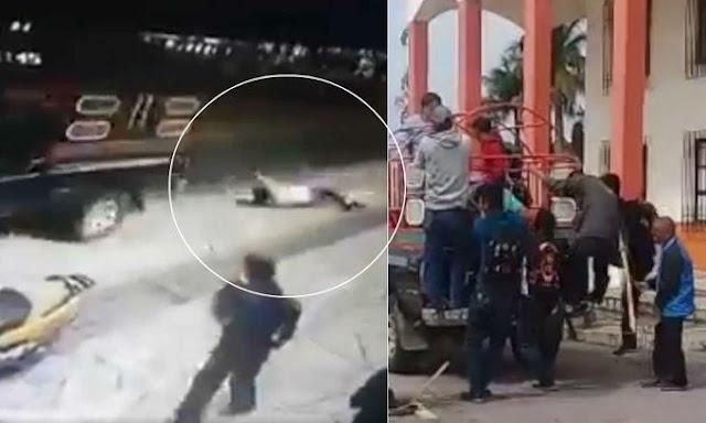 Sokantan Video - Svezali Gradonacelnika za kamion i vukli ga po cesti