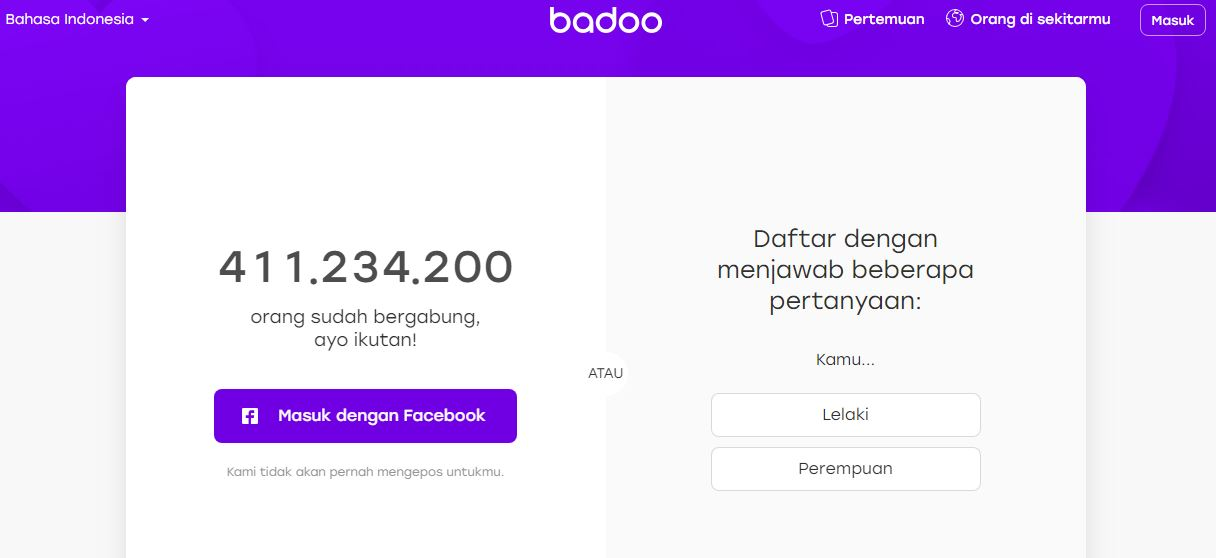 Cara sign out aplikasi badoo