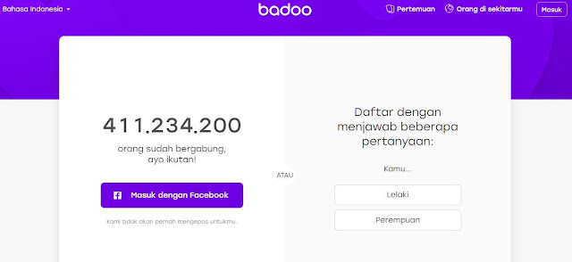 Cara hapus Akun Badoo