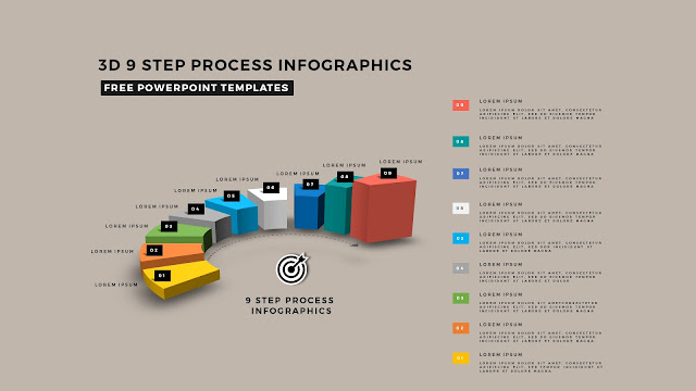 Multi Step 3D Circular Process Diagram Infographic Free PowerPoint Template Slide 15