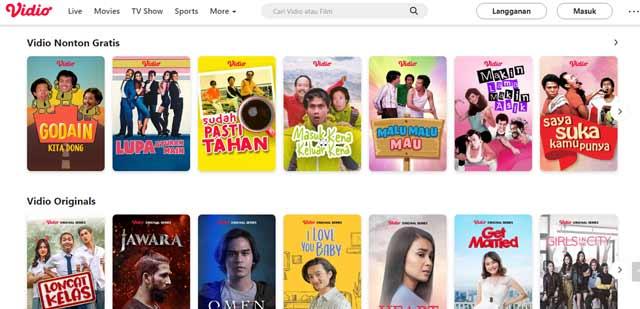 Vidio Situs Nonton Film Indonesia