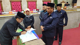 DPRD Kab Cirebon Gelar Paripurna Nota Kesepakatan KUA PPAS Perubahan Tahun 2019