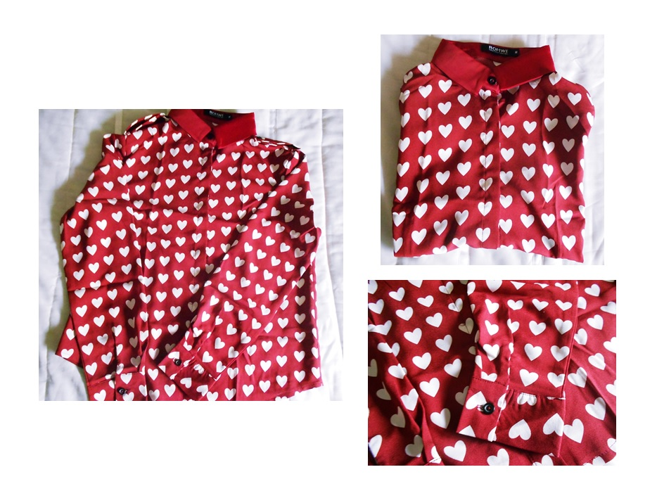 new in | heart blouse