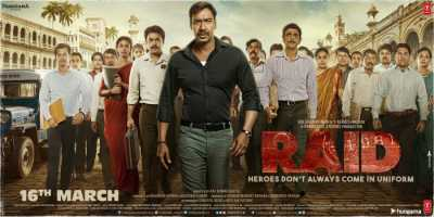 Raid (2018) Hindi 300mb Full Movie Download pDVDrip