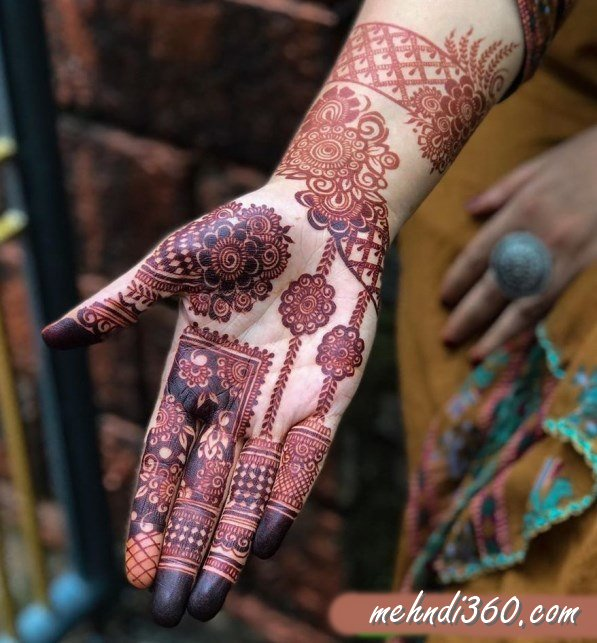 Full Hand Mehndi Design Front