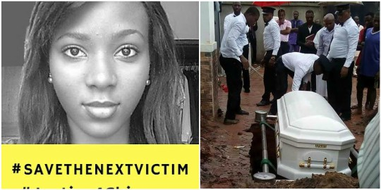 Photos from burial ceremony of lady who died during childbirth at Magodo Specialist Hospital