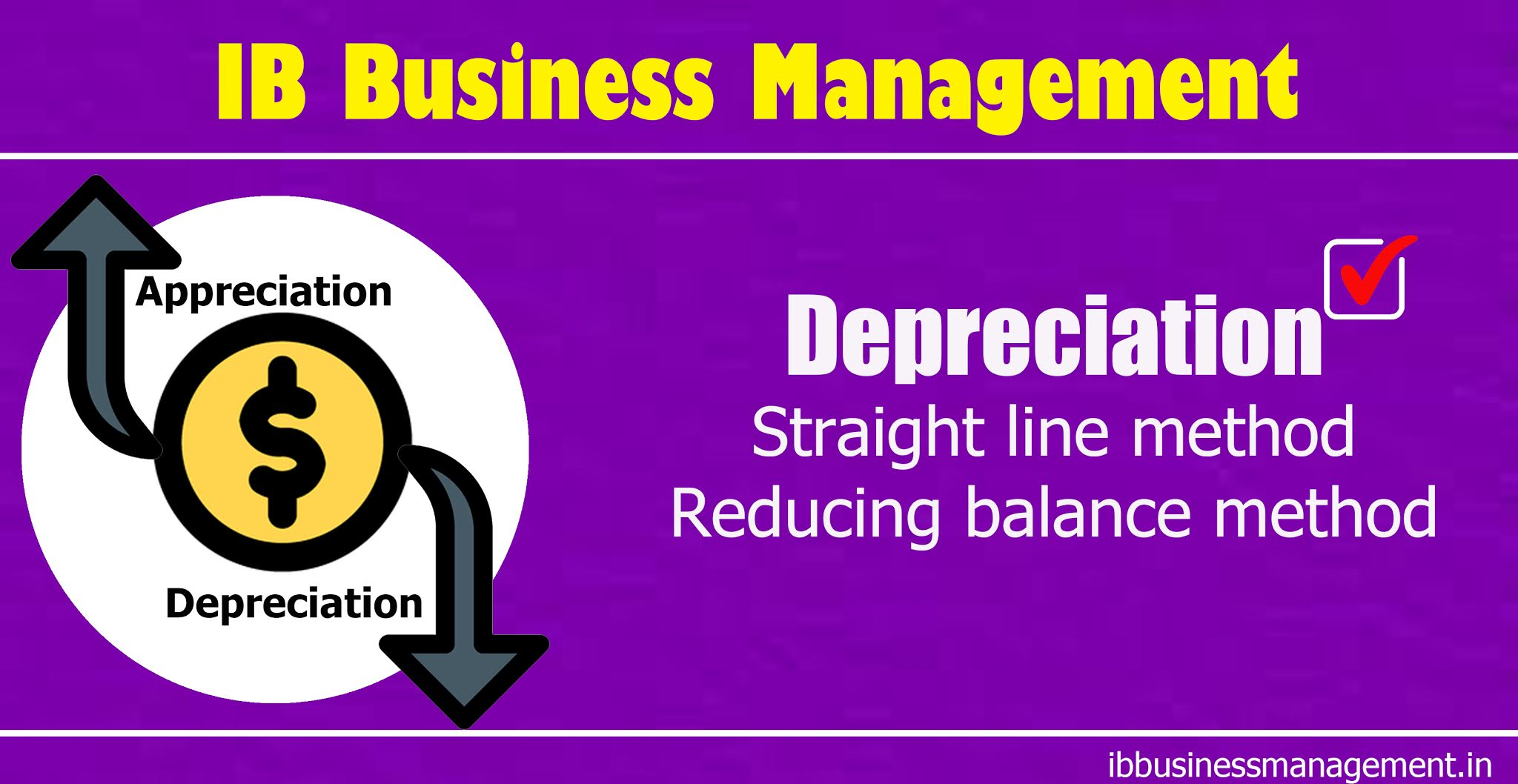 IB Business Management Depreciation Worksheet
