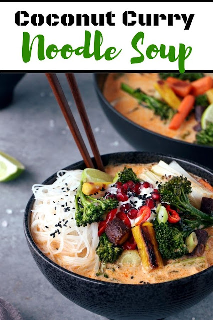 Coconut Curry Noodle Soup #Coconut #Curry #Noodle #Soup Vegan Recipes Easy, Vegan Recipes Healthy, Vegan Recipes Dinner,