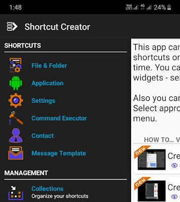 Create Shortcut app