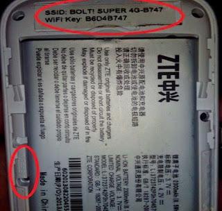 Reset modem bolt 4G