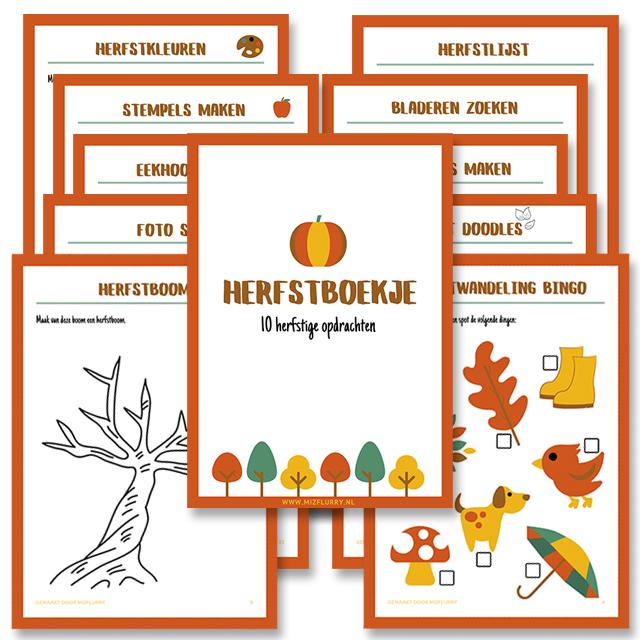 herfstboekje gratis printable
