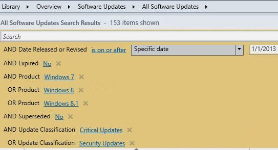 Software Updates Search in SCCM 2012   NETvNext Blog