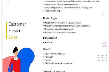 Lowongan Kerja Bandung Customer Service Ish