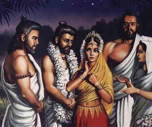 pandava drapadi marriage story hindi, mahabharata story pandawas marriage with Drapadi