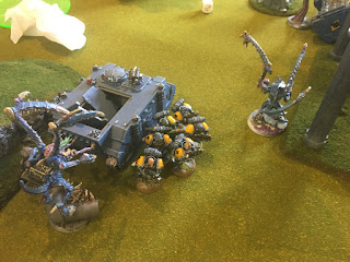 40k SW vs GSC Lictors ambush Grey Hunters on Objective 5