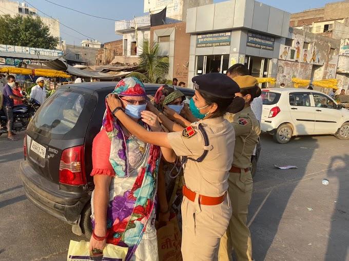 कोरोना काल में सबसे बड़ी सुरक्षा मास्क का उपयोग करना हैं:- आरपीएस लक्ष्मी सुथार