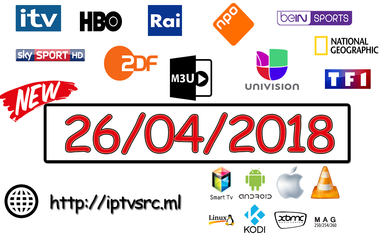 World IPTV M3U Playlist 26 04 2018 - IPTVSRC