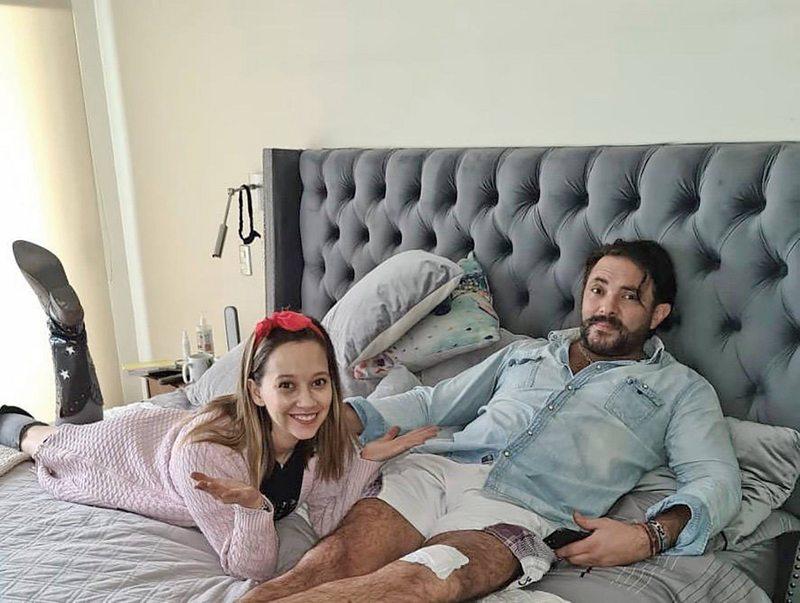 Ingrid Parra pasó susto con accidente de su pareja con una sierra eléctrica