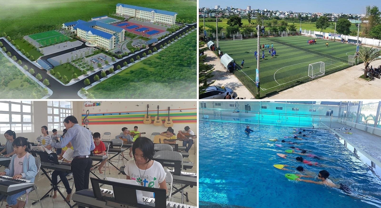 """Ngôi trường đầu tiên ở Gia Lai đưa """"Bơi và Kỹ năng sống"""" vào giảng dạy, tuyển sinh năm học 2018-2019"""