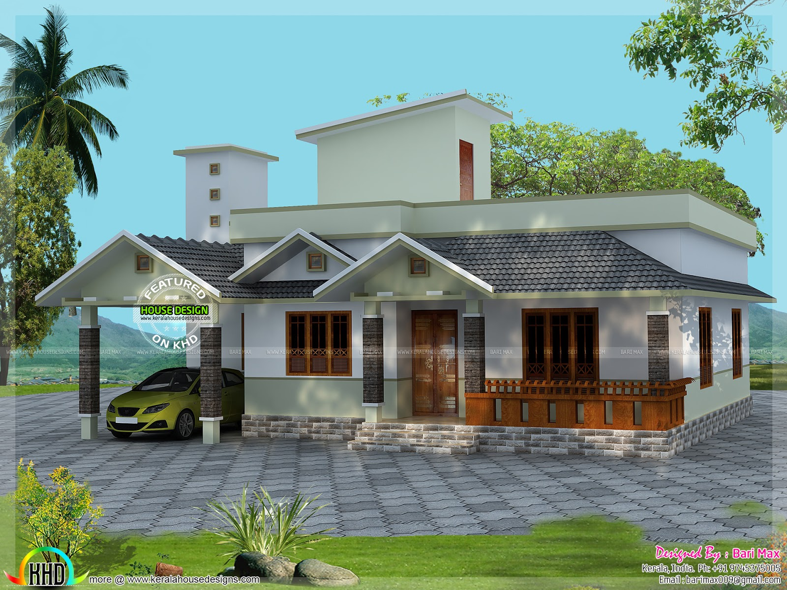 Low Budget 2 Bedroom Home Kerala Home Design And Floor Plans