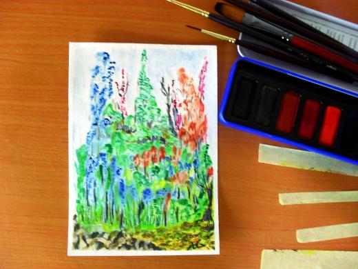 تعلم الرسم بالالوان المائية 4