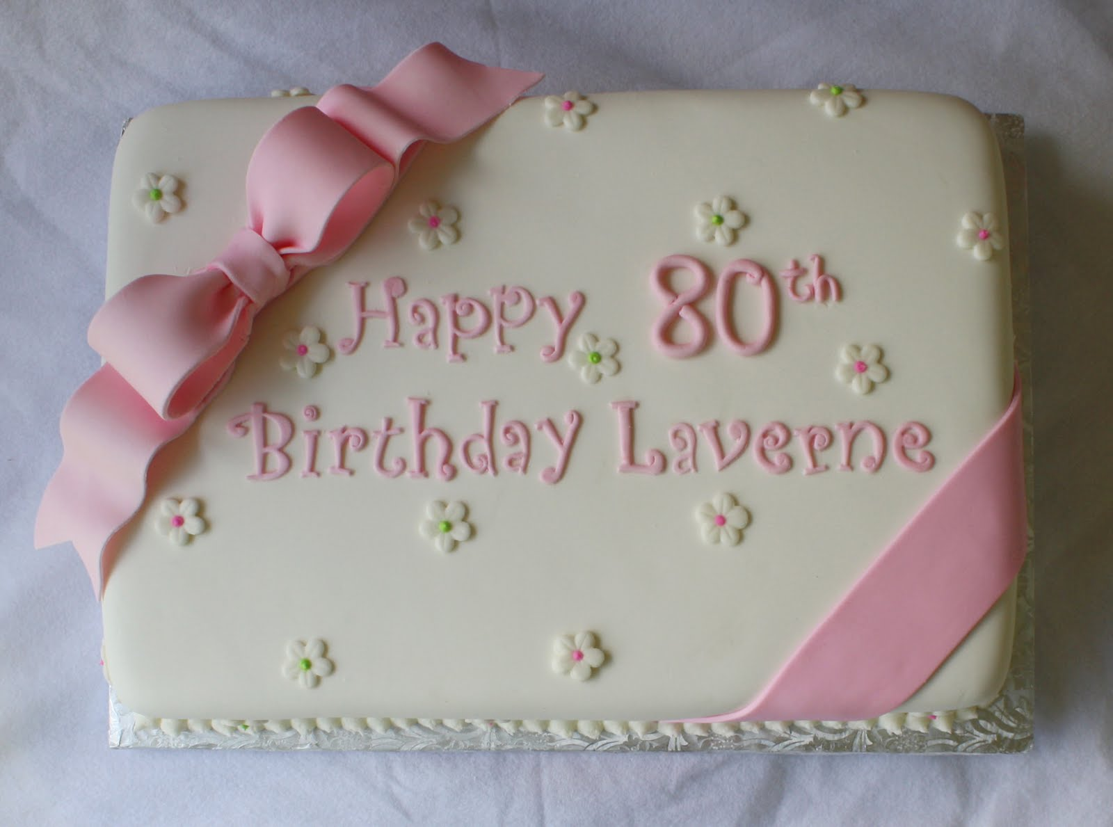 Enjoyable Pink Green Sheet Cakes For 1St And 80Th Birthdays Personalised Birthday Cards Veneteletsinfo