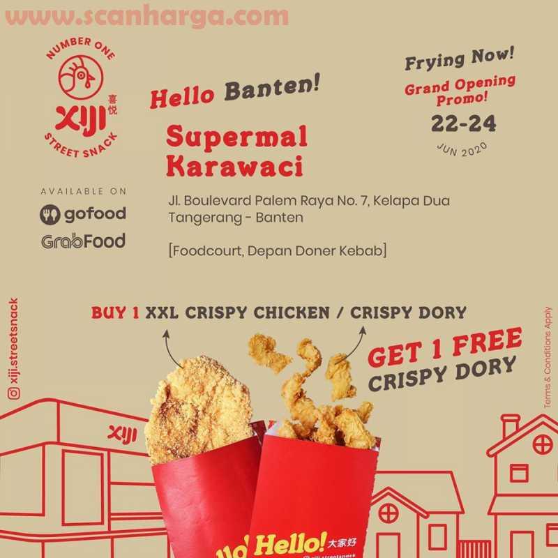 Promo XIJI Supermal Karawaci Banten Grand Opening Promo – BELI 1 GRATIS 1