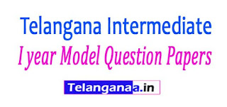 Telangana Intermediate I year Model Question Papers