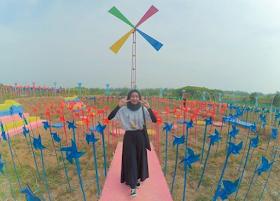 Jelajah Nusantara : Wisata kincir angin rejomulyo kota metro