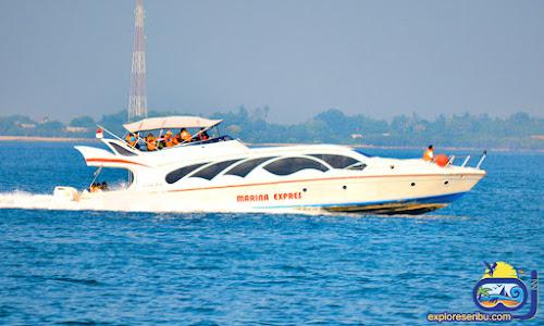 kapal cepat dari dermaga marina ancol
