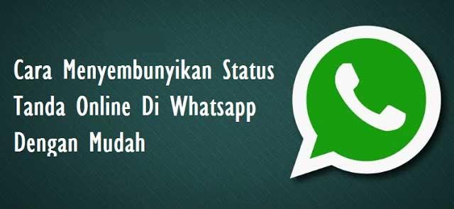 Cara Hide Status Online Wa