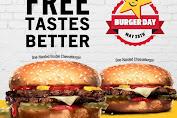Promo Carls Jr International Burger Day Beli 1 Gratis 1 Hanya Hari Ini!