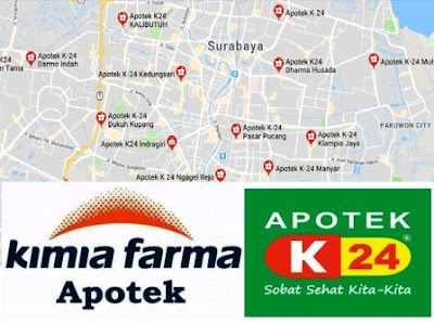 daftar apotek kimia farma - apotik K-24 seluruh Surabaya